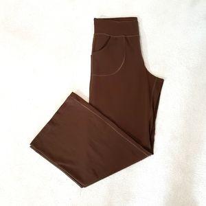 Lululemon Athletica Wide Leg Brown Yoga Pa…